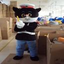 Supply Black Sergeant Cartoon Dolls Walking Cartoon Doll Clothing Fitted Black Sergeant Clothing Mascot Costume