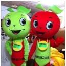 Supply Towards May Day Cartoon Clothing Cartoon Dolls Walking Cartoon Doll Dress Performance Props Apple Character Mascot Costume