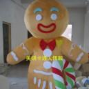 Supply Cartoon Costumes Walking Cartoon Dolls Cartoon Doll Dress Performance Props Bread Man Gingerbread Man Mascot Costume