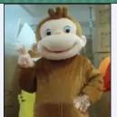Supply Cartoon Costumes Walking Cartoon Dolls Cartoon Doll Dress Performance Props Monkey Mascot Costume