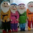 Cartoon Costumes Walking Cartoon Dolls Cartoon Doll Dress Performance Props Seven Dwarfs Mascot Costume