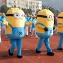 Supply Cartoon Costumes Walking Cartoon Dolls Cartoon Doll Dress Performance Props Variety of Small Yellow People Mascot Costume