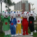 Cartoon Costumes Walking Cartoon Dolls Cartoon Doll Dress Performance Props Five Frankie Wujiantao Mascot Costume