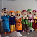 Supply Cartoon Costumes Walking Cartoon Dolls Cartoon Doll Dress Performance Props Snow White and The Seven Dwarfs Mascot Costume