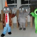 Supply Cartoon Costumes Walking Cartoon Dolls Cartoon Doll Dress Performance Props Zombies Series Mascot Costume