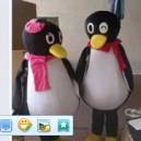 Supply Cartoon Costumes Walking Cartoon Dolls Cartoon Doll Dress Performance Props Penguin Mascot Costume