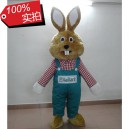 Supply Europe and The Cartoon Rabbit Cartoon Dolls Clothing Overalls Plaid Shoes Containing Fan Bugs Bunny Cartoon Clothing Mascot Costume