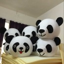 Supply Cool Summer Paragraph Cartoon Clothing 50CM Diameter Headgear Worn Panda Panda Cartoon Character with Mascot Costume