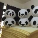 Cool Summer Paragraph Cartoon Clothing 50CM Diameter Headgear Worn Panda Panda Cartoon Character with Mascot Costume