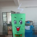 Supply Green Energy Recycling Lithium Battery Doll Props Cartoon Dolls Cartoon Clothing Apple Battery Mascot Costume