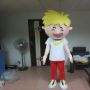 Supply Hong Kong Ordered The Mall Mascot Costume Smiling Boy Walking Cartoon Show Cartoon Dolls Clothing Props