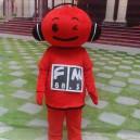 Supply Red Musical Doll Cartoon Dolls Walking Cartoon Costume Dark Eye Net Effect Mascot Costume