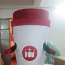 Supply Summer Cold Drink Cup Cartoon Dolls Cartoon Clothing Custom Beverage Bottle Coffee Cup Cartoon Costumes Mascot Costume