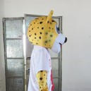 Super Soccer Mascot Design Custom Clothing Walking Cartoon Dolls Dolls Show Props Leopard Mascot Costume
