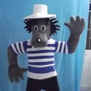 Cartoon Cartoon Doll Costume Hat Wolf Cartoon Clothing Stent Placed in Front of The Store Mascot Costume