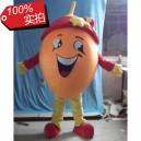 Supply Cartoon Doll Clothing Cartoon Fruit Orange Clothing Dark Eye Open Four Fingers Gloves Ccs Card Mascot Costume