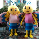 Colorful Butterfly Cartoon Dolls Eva Mold Body Styling Freedom and Flexibility Hands Butterfly Cartoon Clothing Mascot Costume