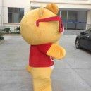 Once The Horse Wearing Glasses Easily Bear Cartoon Mascot Costume Cartoon Doll Professional