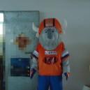 Supply Orange Clothes Big Horns Spanish Bullfight Bullfighter Bull Cartoon Doll Clothing Doll Clothing Mascot Costume