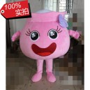 Supply Pink Jar Cartoon Dolls Golden Mitt Can Distribute Leaflets Thursday Circular Cartoon Clothing Mascot Costume