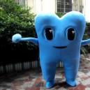 Walking Cartoon Dolls Performances Eyes Bright Skin Material Can Be Freely Oral Dental Cartoon Clothing Mascot Costume