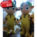 Supply Avatar Film Props Kids Cartoon Dolls Green Ambassadors Green Baby Cartoon Clothing Mascot Costume