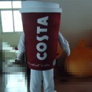 Supply Costa Coffee Cups Walking Doll Clothing Cartoon Show Cartoon Dolls Clothing Props Cinema Beverages Mascot Costume
