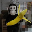 Supply Handheld Banana Chimp Cartoon Dolls Big Ears Long Tail Zodiac Monkey Cartoon Clothing Mascot Costume