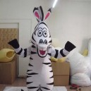 Supply Madagascar Cartoon Dolls Walking Cartoon Zebra Can Cosplay Clothing Plush Doll Animation Mascot Costume
