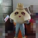 Supply Manufacturers of Professional Green Food Bun Cartoon Dolls Walking Cartoon Clothing Performance Mascot Soup Dumplings Mascot Costume