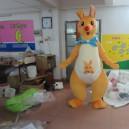 Supply Simeon Kangaroo Cartoon Dolls Cartoon Costumes Walking Doll Clothing Cartoon Show Clothing Plush Doll Mascot Costume