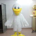 Supply Small Yellow Duck Mascot Long White Wool Big Mouth Duck Chicken Cartoon Clothing Cartoon Dolls Environmentally Friendly Materials Mascot Costume