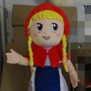 Supply The Little Match Girl Cartoon Doll Cartoon Girl with Pigtails Little Red Riding Hood and The Big Bad Wolf Cartoon Clothing Mascot Costume