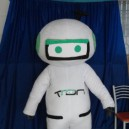 Supply White Robot Cartoon Clothing Activity Show Costumes Performing Mechanical Version Can Walk Cartoon Mascot Costume