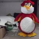 Chicken Cartoon Mascot Dolls Super Soft Eva Body Material Red Rooster Cartoon Dolls Clothing Mascot Costume