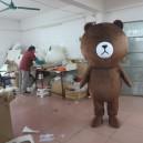 Supply Coffee Bear Mascot Wedding Ceremonies Invincible Cute Cute Cute Easily Bear Cartoon Dolls Costumes Mascot Costume