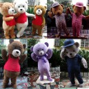 Supply New Listing Bear Walking Cartoon Doll Clothing Performance Clothing Easily Bear Costume Mascot Costume