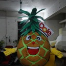 Supply Professional Cartoon Doll Clothing Concavity Leaves Dole Pineapple Cartoon Mascot Dolls Mascot Costume