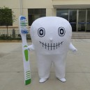 Supply Professional Dental Corporate Mascot Cartoon Dolls Cartoon Clothing Dental Propaganda Mouthpiece White Clothes Mascot Costume