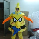 Supply Yellow Bird Costume Suit Mobile Gaming Performance Stage Costumes Children Dress Up Cartoon Clothing Cos Birdman Mascot Costume