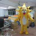 Supply Yellow Lion Mascot Doll Costumes Environmentally Friendly Material Eva Super Soft Fleece Cleats Fan Mascot Costume