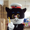 Ding Spicy Cat Cartoon Dolls Clothes Dolls Doll Clothing Fashion Show Chengdu Black Sergeant Mascot Costume