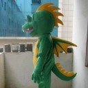 Long Series of Cartoon Dolls Plush Doll Clothing Wedding Supplies Plush Toys Green Dragon Mascot Costume