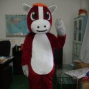 Supply Small Red Horse Cartoon Doll Clothing Apparel Clothes Celebration Mascot Costume