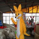 Dolls Walking Cartoon Costumes Stage Performance Costume Props Advertising Kangaroo Mascot Costume