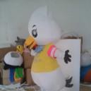 Duck Cartoon Dolls Clothes Wedding Costumes Show Apparel Mascot Costume