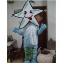 Supply Props Plush Cartoon Costumes Stage Performance Clothing Children Photography Clothing Blue Starfish Mascot Costume