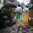 Supply Tanabata Couple Rabbit Costume Adult Plush Toy Rabbit Doll Large Dolls Walking Cartoon Doll Mascot Costume