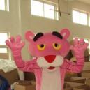 Pink Panther Cartoon Dolls Walking Cartoon Props Costumes Leopard Leopard Walking Doll Clothing Headgear Mascot Costume