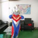 Supply Shanghai Children Cartoon Ultraman Tiga Clothing Apparel Clothing Dolls Walking Cartoon Characters Mascot Costume